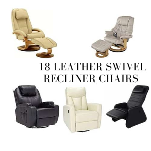 Top 18 Real Leather Swivel Recliner Chairs Reviews