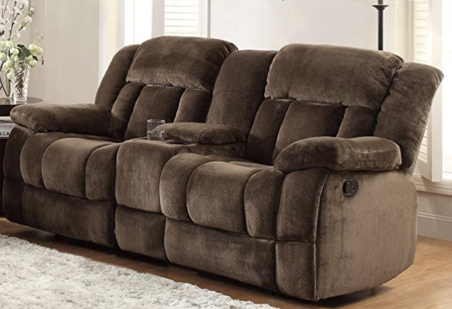 best reclining loveseat with console